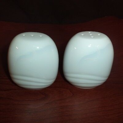 Noritake Japan SALT & PEPPER Shakers FOAM WHITE  NEW Porcelain