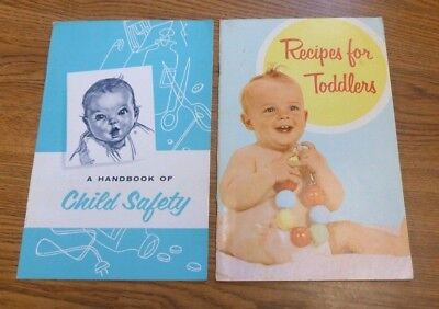 Lot of Vintage 1960s GERBER BABY Booklets - Child Safety & Recipes for Toddlers