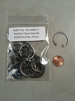 """1"""" Internal Stainless Steel Retaining Rings ROTOR CLIP HO-100SS 25 pc."""