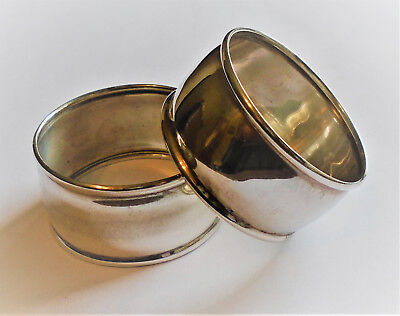 Roden Bros. Two Plain Sterling Silver Napkin Rings