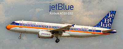 JetBlue Airways Airbus A320 Handmade Photo Magnet (PMT1651)