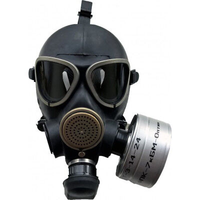 Soviet Russian Military Gas mask GP-7VM New FULL SET Grey rubber tactical filter