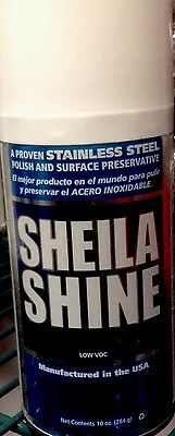 2 Cans of Sheila Shine Low VOC Stainless Steel Cleaner/Polish.10 Oz. Aerosol.