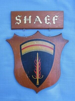"""SHAEF Sign Belonging To A """"Monuments Man."""""""