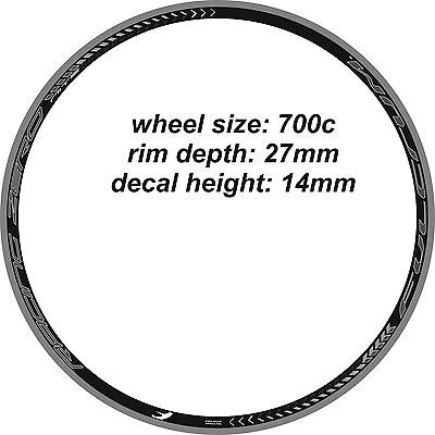 FULCRUM RACING NITE ZERO 27mm RIM DECAL SETS for two wheels selectable color