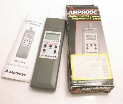 AMPROBE TH-2 Digital Thermo / Hygrometer - Prepaid Shipping (975766)