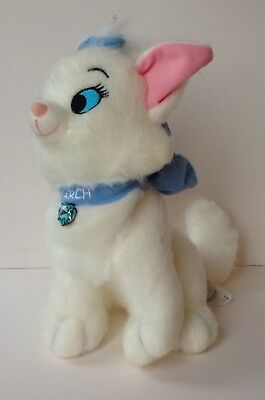 The Disney Store Soft Toy MARIE THE ARISTOCATS White Cat Plush - March Jewel Ltd
