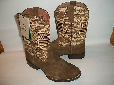 be3683f7b2d NEW MEN'S ARIAT Brown Sport Patriot Round Toe Western Boot, Size 11 EE