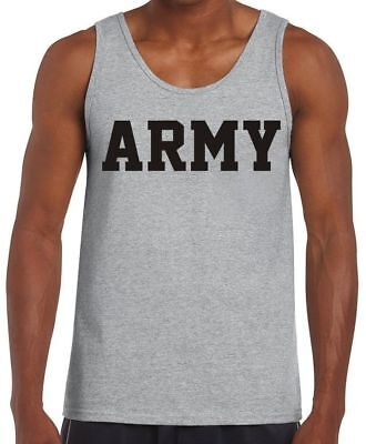US Army Navy Air Force USAF Marines USMC Military Physical Training PT Tank Top