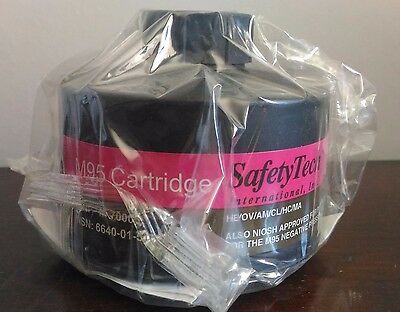 SafetyTech M95 Cartridge - 40mm Gas Mask Filter - NIOSH Approved, NBC / CBRN