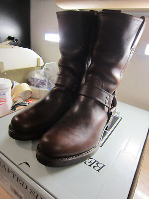 588ff21c667 NIB FRYE Mens John Addison Harness Size 9 med  449 Boots Brown made in USA