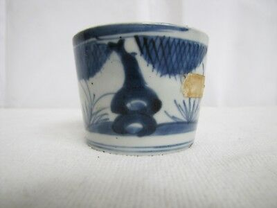 Antique Meiji 18th/19th century Japanese Porcelain Blue & White Flower Cup