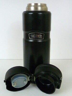 Thermos Stainless King 24 Ounce Drink Bottle, Matte Black