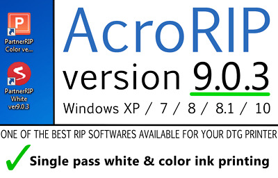 AcroRIP v 9.0.3 2018 DTG UV Printer Acro RIP