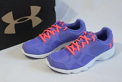 a20cf52b5c938 Under Armour Girls Youth Size 4.5 Grade School Pace Running Shoe Athletic  Purple