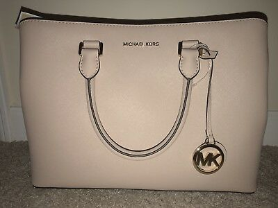 06be3cad9d0ca New Michael Kors Savannah Saffiano Leather Large Satchel Oyster  298 Bag  Purse