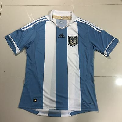 030e8656d Argentina National Team Adidas Soccer White World Cup Jersey Mens Large  Futbol