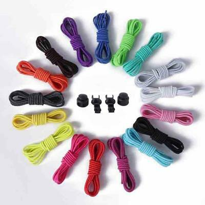 Shoelace Color Elastic Strap Round Adult Child Safety Stretch Lazy Shoelaces