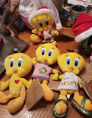 4, Warner Bros ,Looney Tunes ,Tweety Bird Plush,Studio Store, 1998