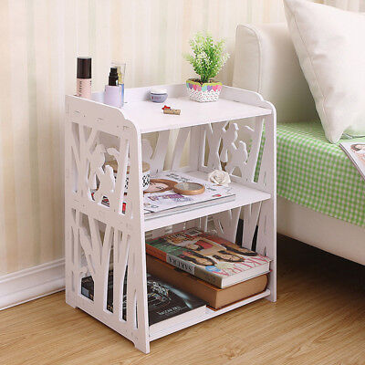 Bedroom Bedside Table Magzine Rack Storage Organizer Cabinet Basket Drawer Unit