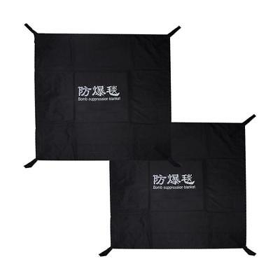Explosion-proof blanket 1.6 *1.6 meters Black easy to carry, simple operation