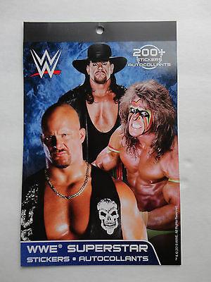 WWE Wrestling Sticker Booklet STONE COLD THE UNDERTAKER ULTIMATE WARRIOR