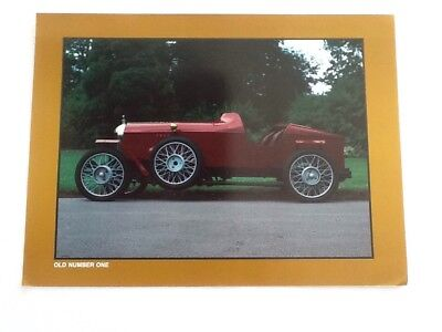 MG OLD NUMBER ONE info Spec Sheet Sports Car Magazine Photo Print 2 Sided
