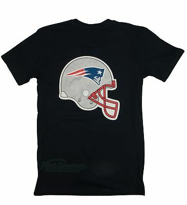 NEW New England Patriots NFL Helmet Logo T-Shirt by Majestic Athletic