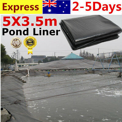 5 X 3.5mM Fish Pond Liner Gardens Landscaping Pools Reinforced HDPE Membrane