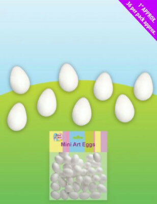 36 Small Foam Art Eggs – Moulds for Art Work and Felting