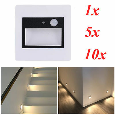 White 0.6W Sensor Photocell Lamp LED Wall Plinth Recessed Stairs Light AC85-265V