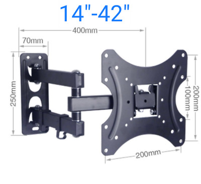 "Tilt &Swivel TV Wall Mount Bracket 14""-42"""