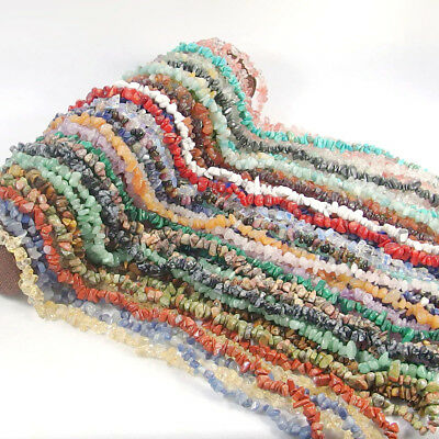 natural freeform chip gemstone beads 5-8mm for bracelet jewelry making DIY 35""