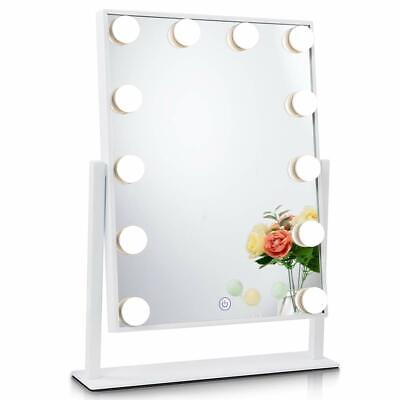 Chende Hollywood Tabletop Makeup Mirror Vanity Mirror with 12 LED Dimmable Bulbs