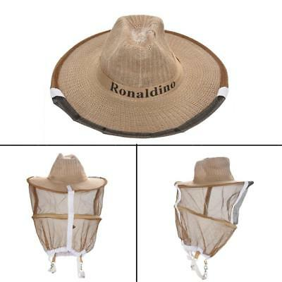 Beekeeping Garden Guard Cowboy Hat Anti Mosquito Bee Insect Bug Face Head  Veil H b99337d7793a