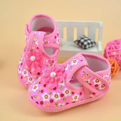 Newborn Infant Baby Girls Kids Flower Boots Soft Crib Shoes 0-10 Months Toddler