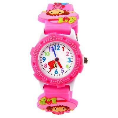 Kinder Uhr Bunte Student Sport Digital cartoon Muster Armbanduhr Quarzuhr Neu
