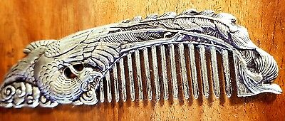 antique style handcrafted silver comb