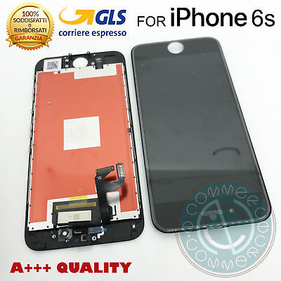 Spare Parts Iphone 6S 6 S Black Apple Lcd Display + Touch Screen + Frame Glass