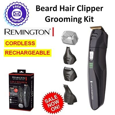 Mens Beard Hair Clipper Trimmer Shaver Grooming Kit Cordless Electric REMINGTON
