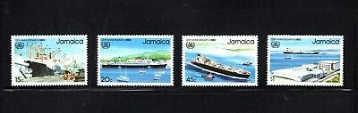 Jamaica 1983 25th Anniv International Maritime Organisation SG 579/82 MUH