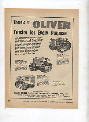 Oliver Crawler Tractor Advertisement removed from 1951 Farming Magazine