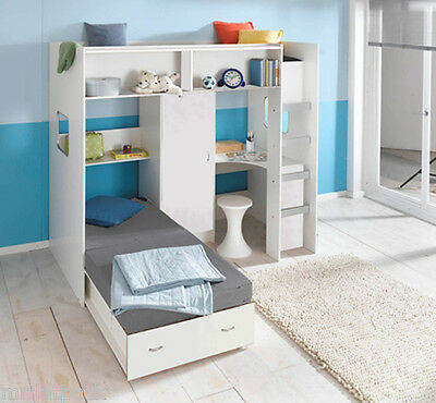 Cabin High Sleeper Bed With Pullout