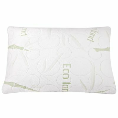 2x ECO LAND Luxury Bamboo Pillows Memory Foam Fabric Fibre Cover 70 x 40 cm @AA