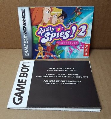 Nintendo GBA Gameboy Advance Totally Spies 2 Instruction Booklet & Insert (F-2)