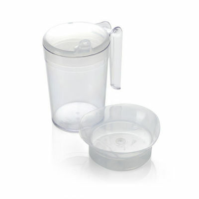 Polycarbonate Mug With 2 Lids Care Home Hospice Hospital Disability Aid