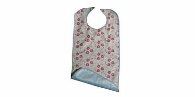 Adult Soaker Bib (Floral) Mealtime Protector Disability Aid Large