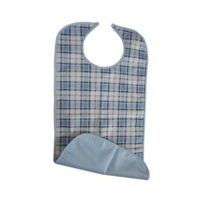 Adult Soaker Bib (Blue/White) Adult Mealtime Disability Aid Wipe Clean
