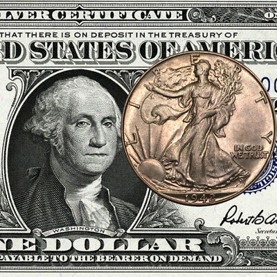 $1 Silver Certificate AND Walking Liberty Half Dollar!