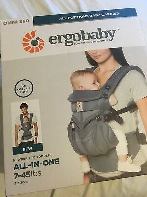 69e8aef9f6c Ergobaby Omni 360 Baby Carrier Oxford Blue Cool Air Mesh New   Proof of  Purchase